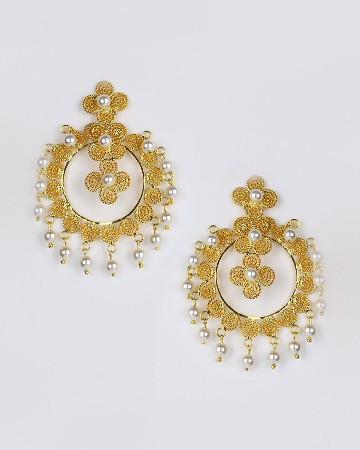 Gold Arabian Rhapsody Earrings