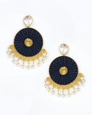 Navy Iraca Rhapsody Earrings