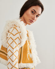 Load image into Gallery viewer, Yellow Chillon Embroidered Gilet