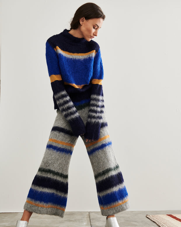 Blue Shell Fuzzy Knit Jumper