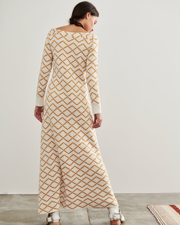 ESCVDO | BLAIZ | Ivory Elena Knit Maxi Dress
