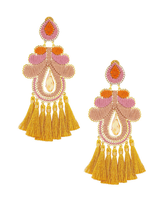 Pink & Gold Curubas Earrings