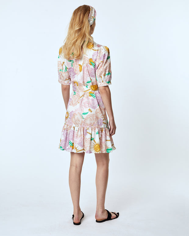 Luna Floral Mini Shirt Dress