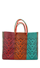 Load image into Gallery viewer, Gold, Red, Orange, Mint & Black Tote Bag