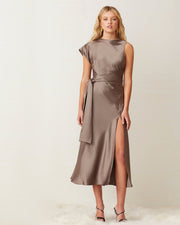 Taupe Piper Midi Dress
