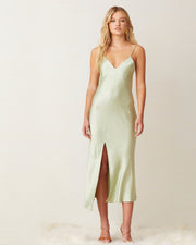 Crest Mint Midi Slip Dress