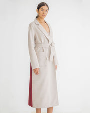 Nude & Merlot Goddess Wool Trench
