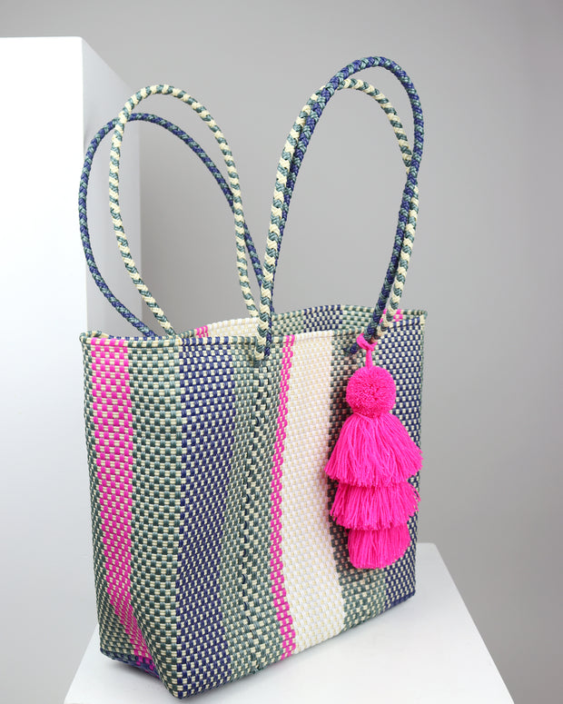 Bianca Medium Woven Tote Bag