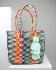 Alma Medium Woven Tote Bag