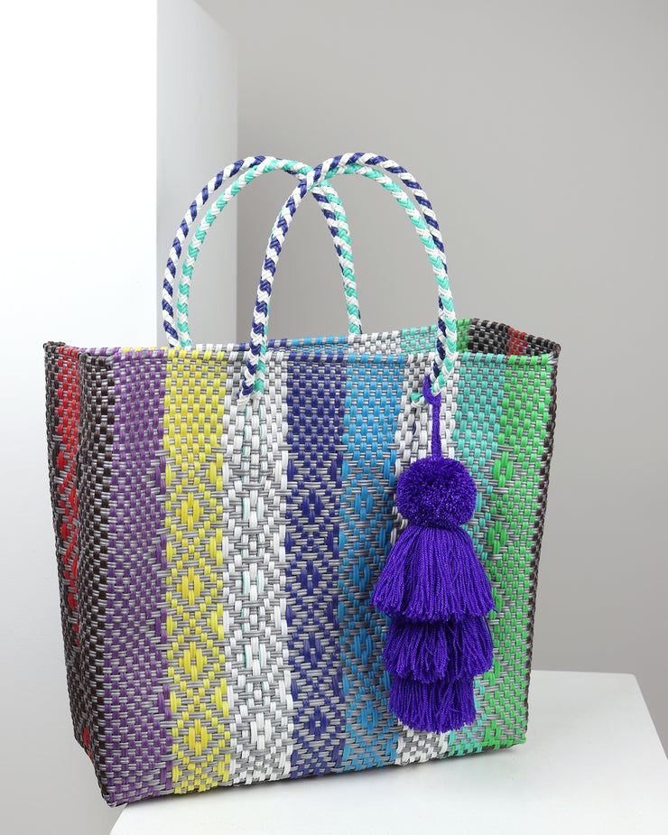 OAXACA | BLAIZ | Giuliana Multicolour Medium Woven Tote Bag