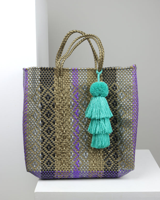Alicia Medium Woven Tote Bag