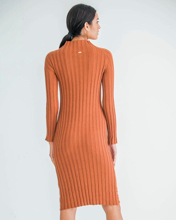 HERA CONCEPT | BLAIZ | Copper Knitted Midi Dress