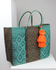 Carolina Large Woven Tote Bag