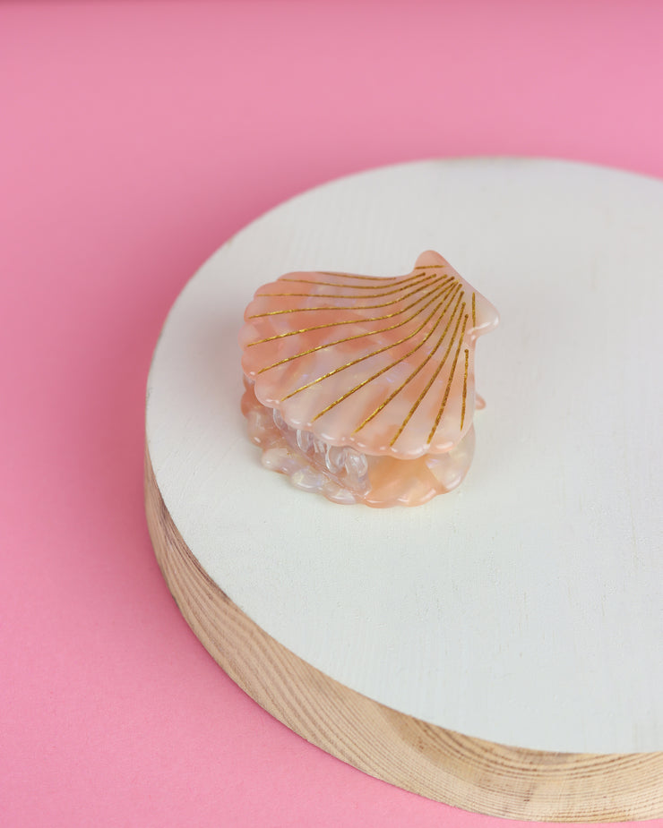 227 | BLAIZ | Peach Shell Resin Hairclip