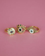 227 | BLAIZ | Enamel Eye Gold Ring