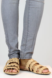 Natural Raffia Cork Sandals