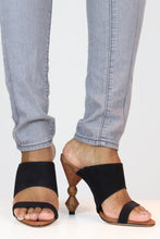 Load image into Gallery viewer, Black High Heel Mules