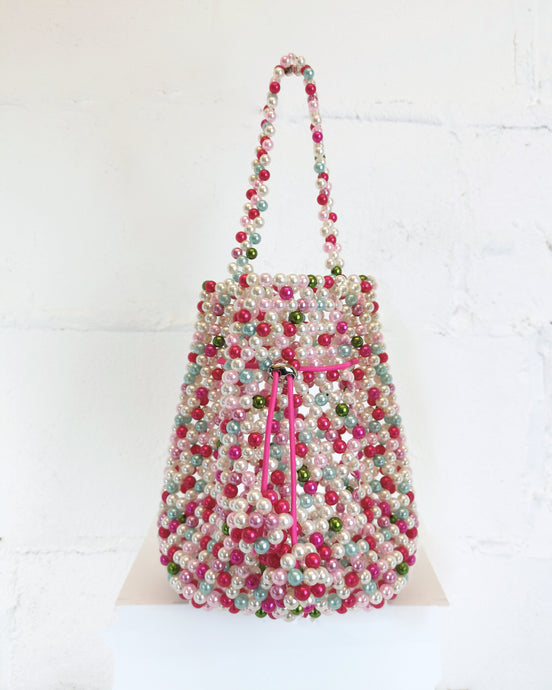 Multi-Pink Beaded Bag
