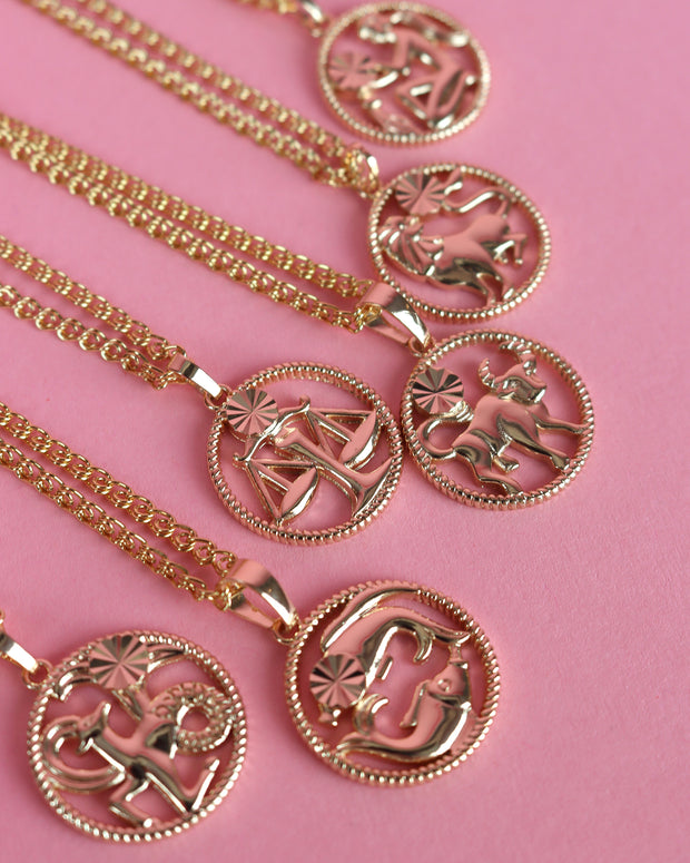 227 | BLAIZ | GOLD HOROSCOPE STAR SIGN ASTROLOGY NECKLACE