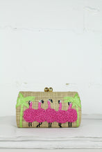 Load image into Gallery viewer, Natural Flamingo Farah Shoulder Bag