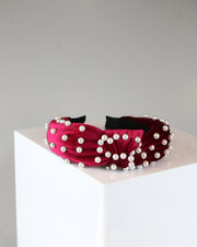 227 | BLAIZ | Red Velvet & Pearl Headband