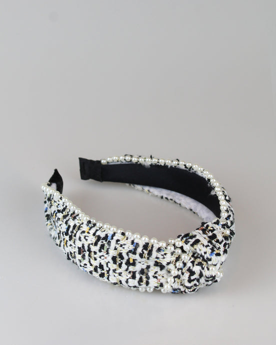 Black & White Tweed Headband