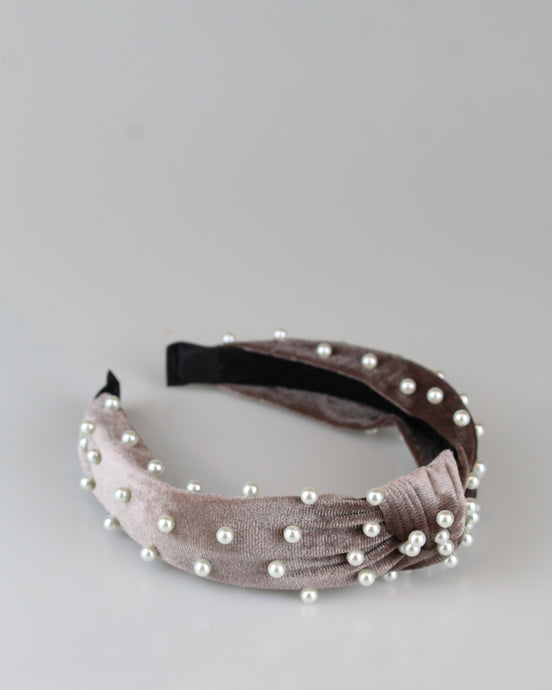 Dusty Brown Pearl Headband