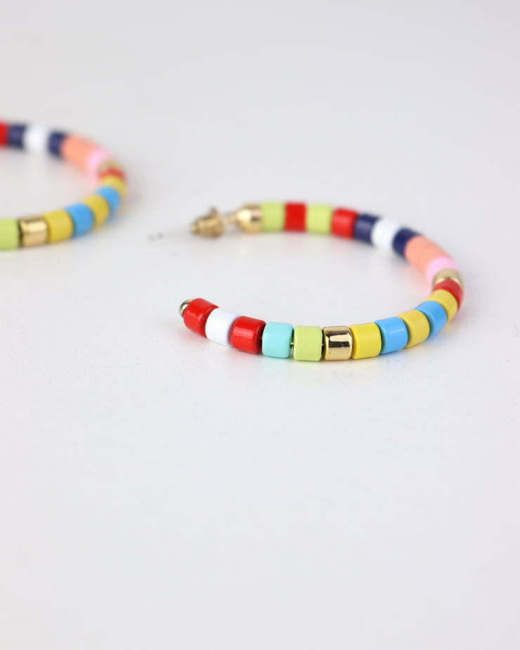 BLAIZ | 227 | Rainbow Striped Hoops