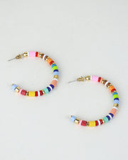 BLAIZ | 227 | Gold Multi Striped Hoops