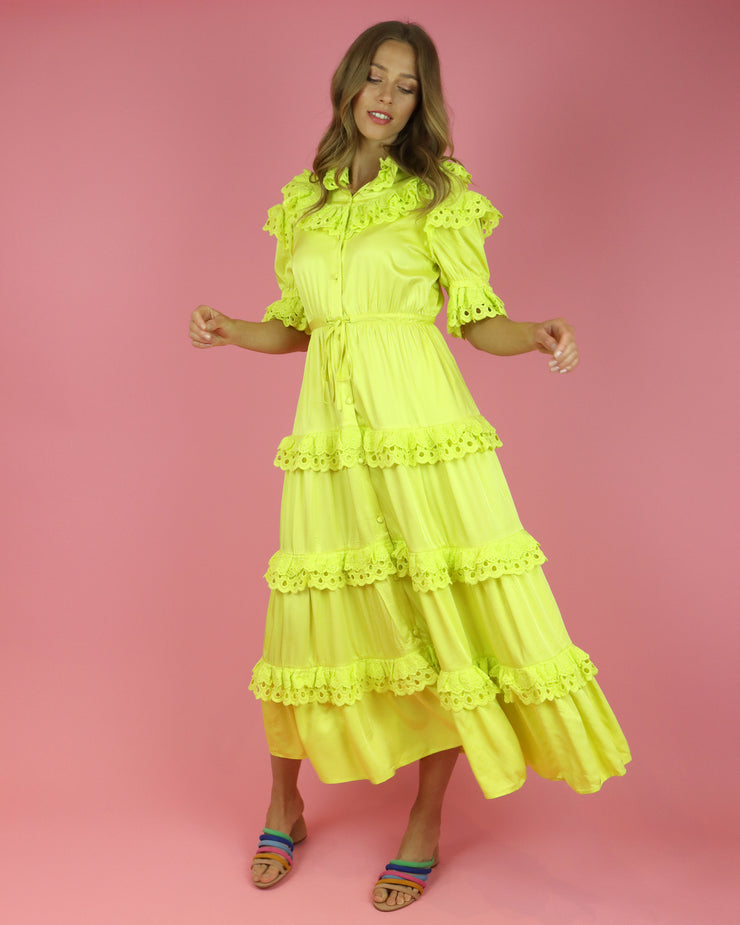 CELIAB | BLAIZ | Yellow Sunbeam Dress