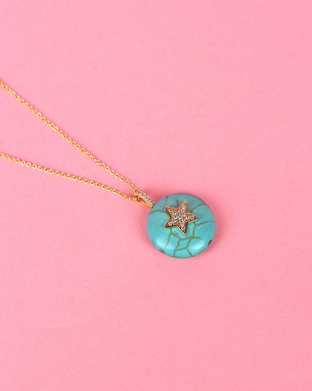 Turquoise Star Pendant Necklace
