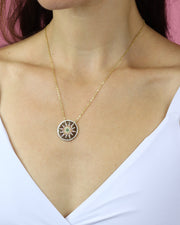 227 | BLAIZ | Sun Medallion Necklace