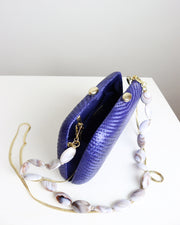 Blue Tina Bun Clutch