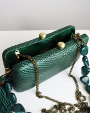 Green Tina Bun Clutch
