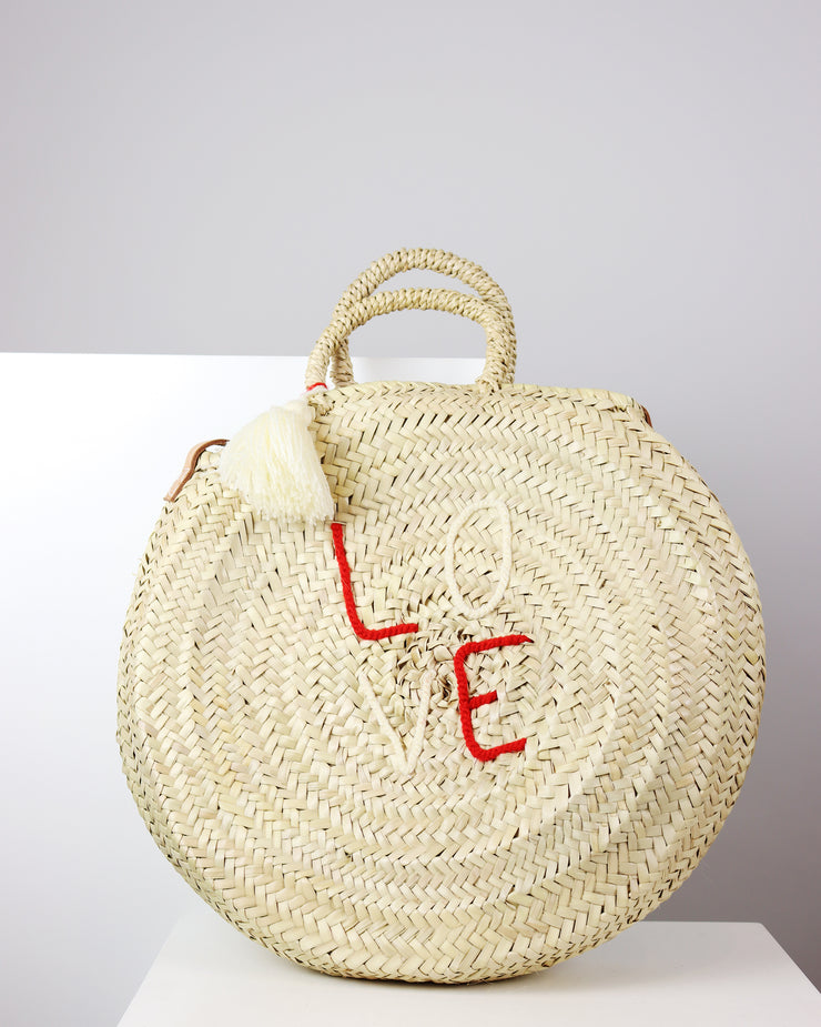 Love Round Tote Bag