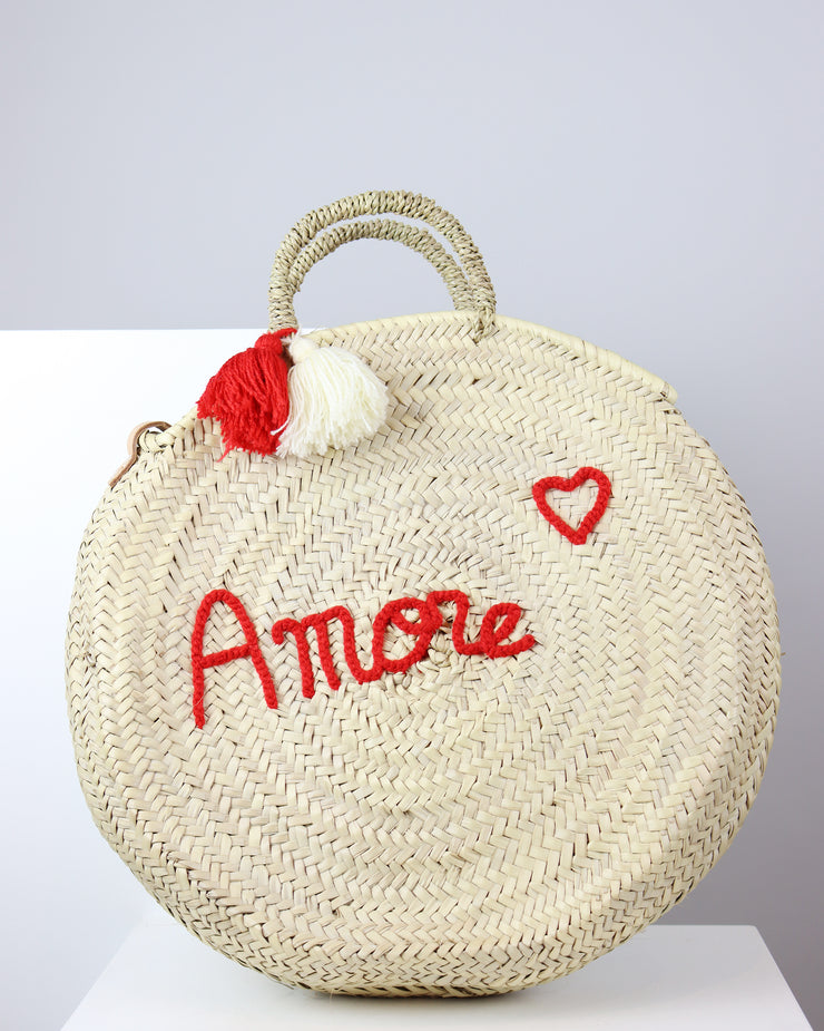 Amore Round Tote Bag