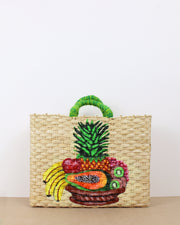 Large Fruit Salad Straw Bag