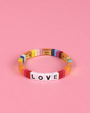 Gold Accents Love Enamel Bracelet