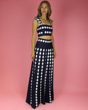 SKAZI | BLAIZ | NAVY BLUE POLKA DOT SKIRT SET