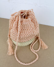 Load image into Gallery viewer, Peach Woven Pouch Bag