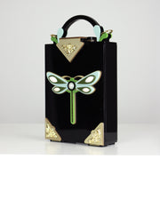 Black Acrylic Dragonfly Bag