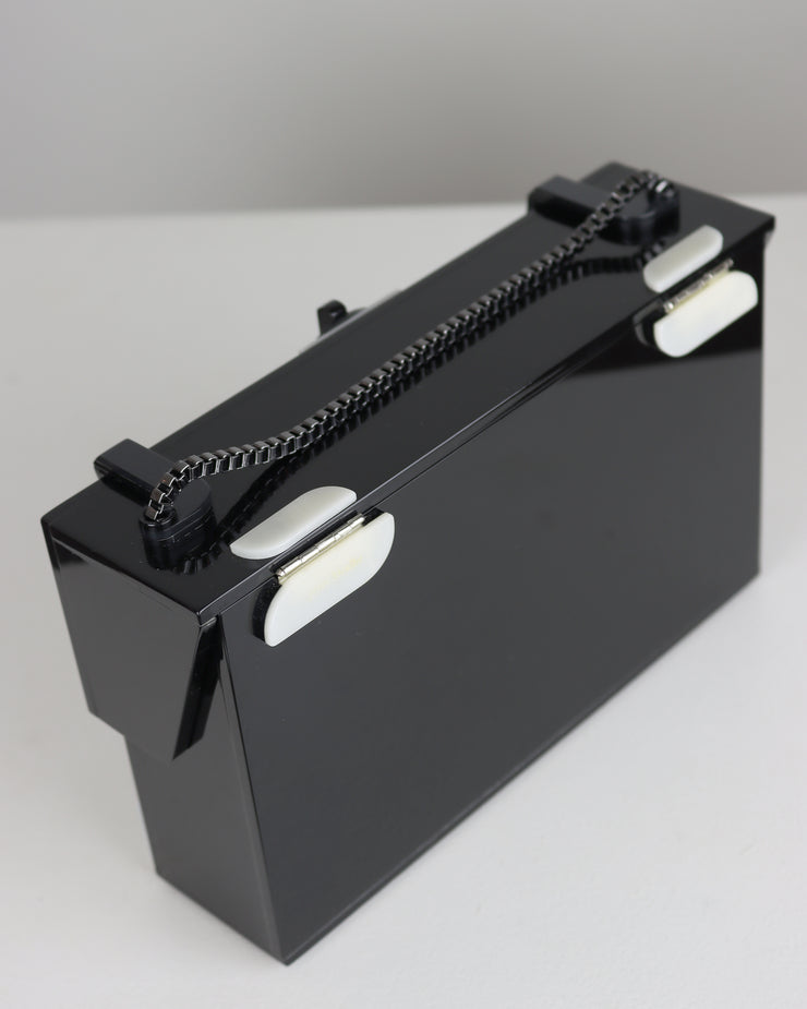 Black Acrylic Demy Clutch