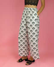 White Helena Loose Pants