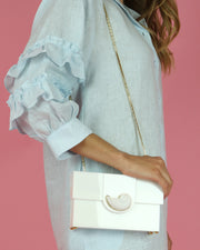 White Nautilus Shell Clutch