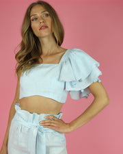 WAIMARI | BLAIZ | ONE SHOULDER RUFFLE TOP