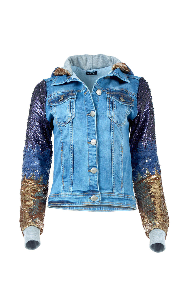 Multicoloured Sequin Denim Jacket