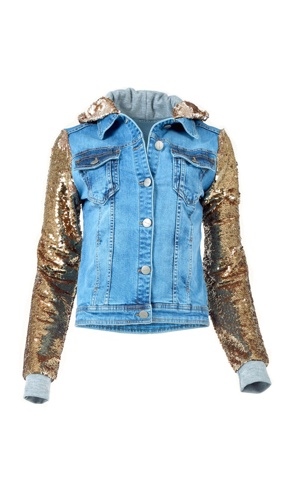 Gold Sequin Denim Jacket