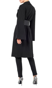 IORANE | BLAIZ | Black Belted Trench Coat