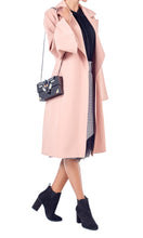 Load image into Gallery viewer, Blush Pink Belted Trench Coat