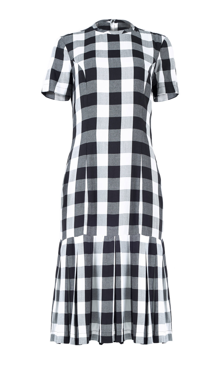IORANE | BLAIZ | Gingham Midi Ruffle Dress
